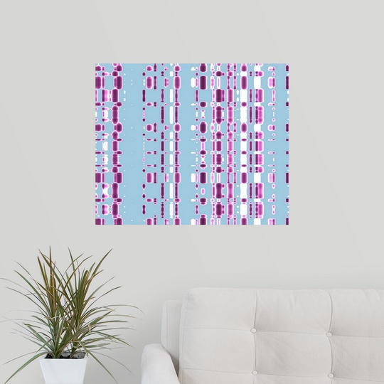 Poster Print Wall Art entitled DNA autoradiogram, artwork | eBay