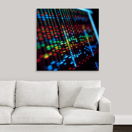 Premium Thick-Wrap Canvas Wall Art entitled DNA sequence on a ...