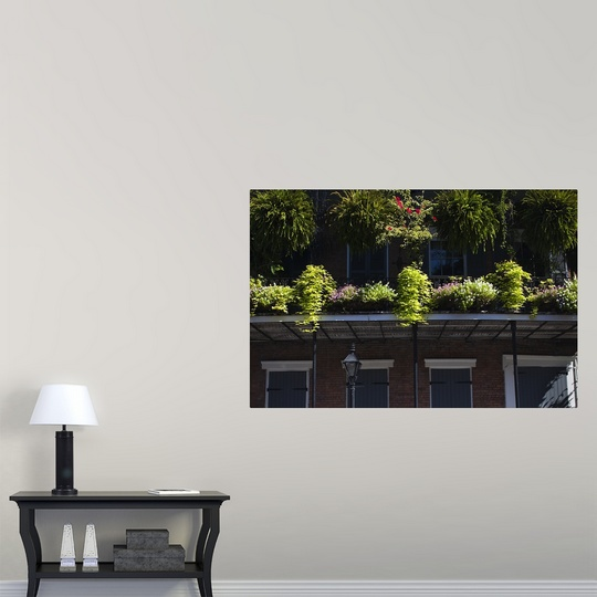 poster print wall art entitled low angle view of a balcony