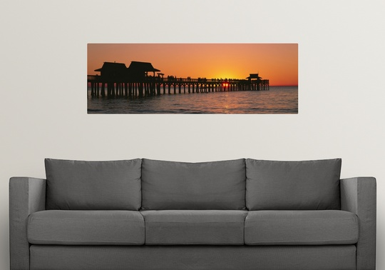 Wall Art Decor Naples Fl : Poster print wall art entitled sunset naples pier gulf of