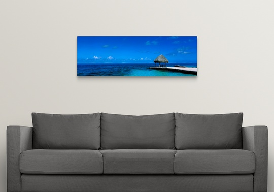 Premium Thick-Wrap Canvas Wall Art Entitled Beach Scene