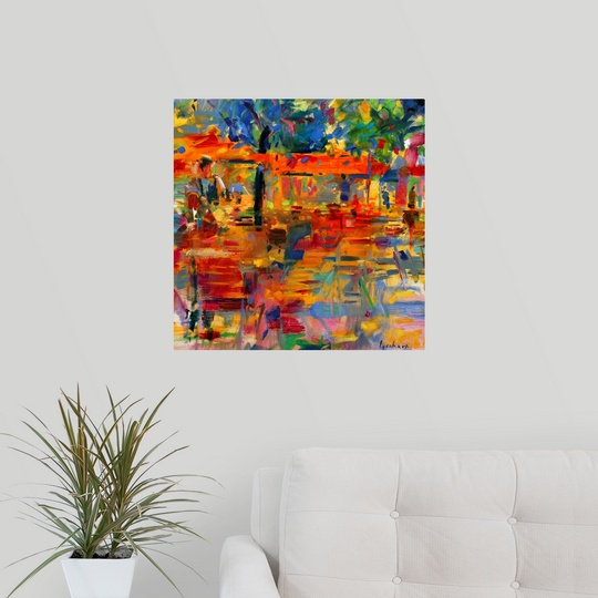 Falling Leaves Wall Decor : Poster print wall art entitled falling leaves paris oil
