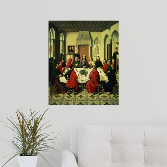 poster print wall art entitled the last supper central. Black Bedroom Furniture Sets. Home Design Ideas