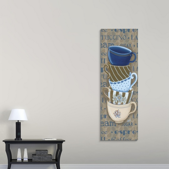 Set Of 3 Coffee Cup Canvas Wraps: Premium Thick-Wrap Canvas Wall Art Entitled Coffee Cup