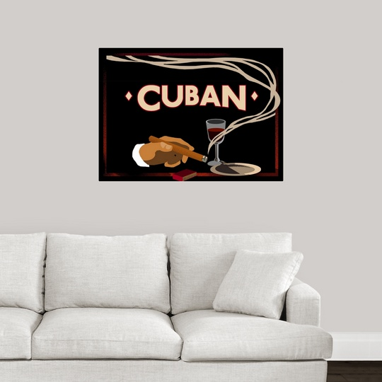 Cigar Box Wall Art: Poster Print Wall Art Entitled Cuban