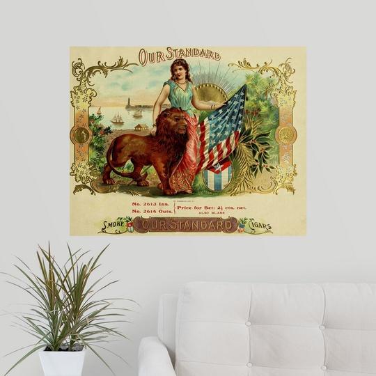 Cigar Box Wall Art: Poster Print Wall Art Entitled Our Standard