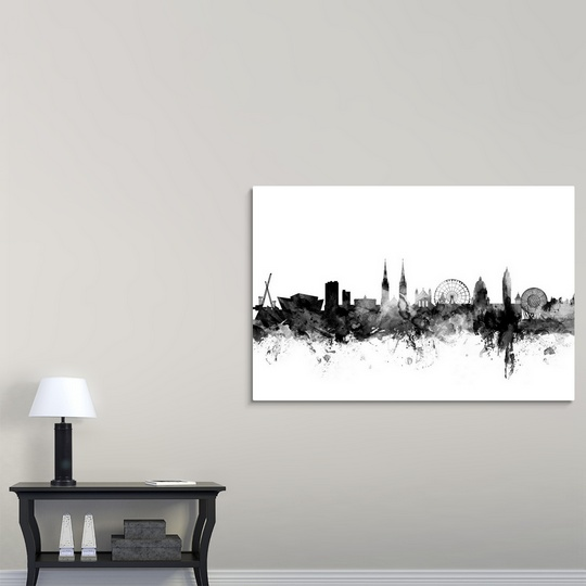 Premium thick wrap canvas wall art entitled belfast for Home decor northern ireland
