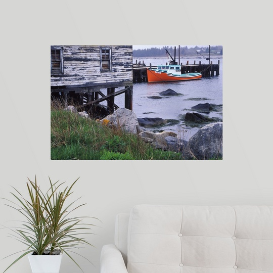 Lighthouse Warehouse Halifax: Poster Print Wall Art Entitled Canada, Nova Scotia, Hunts