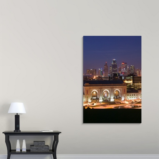 Premium thick wrap canvas wall art entitled missouri for Room decor union city