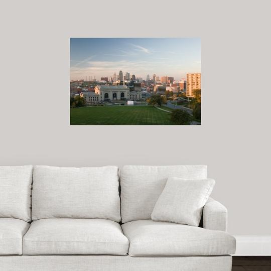 Poster print wall art entitled missouri kansas city for Room decor union city