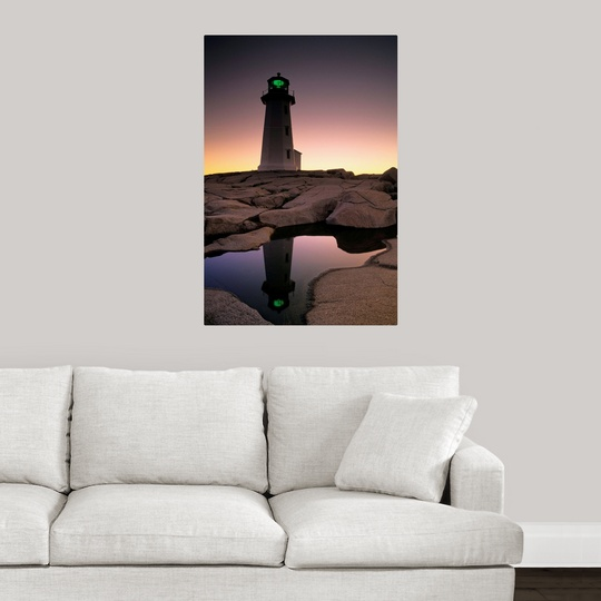 Lighthouse Warehouse Halifax: Poster Print Wall Art Entitled Lighthouse At Dawn, Peggys