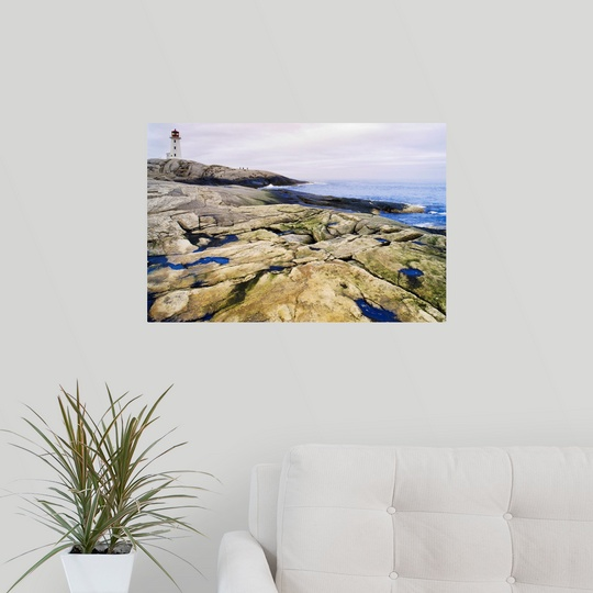 Lighthouse Warehouse Halifax: Poster Print Wall Art Entitled Peggy's Cove Lighthouse