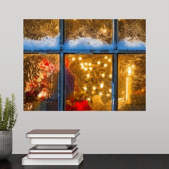 Christmas Lights Jersey: Poster Print Wall Art Entitled USA, New Jersey, Window