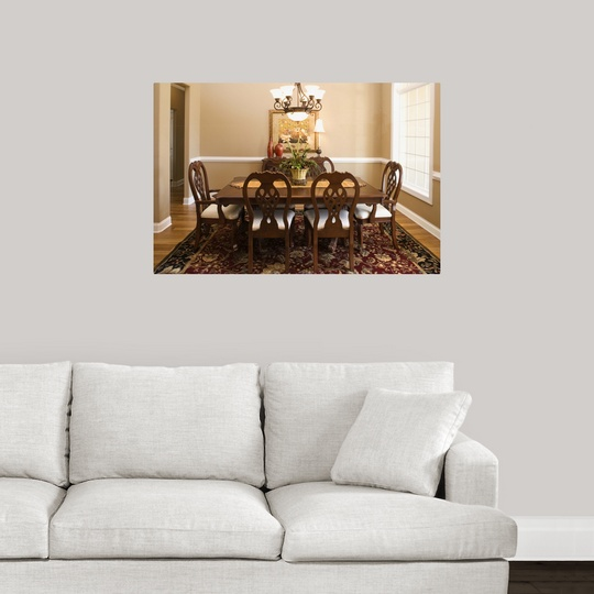 poster print wall art entitled dining room ebay