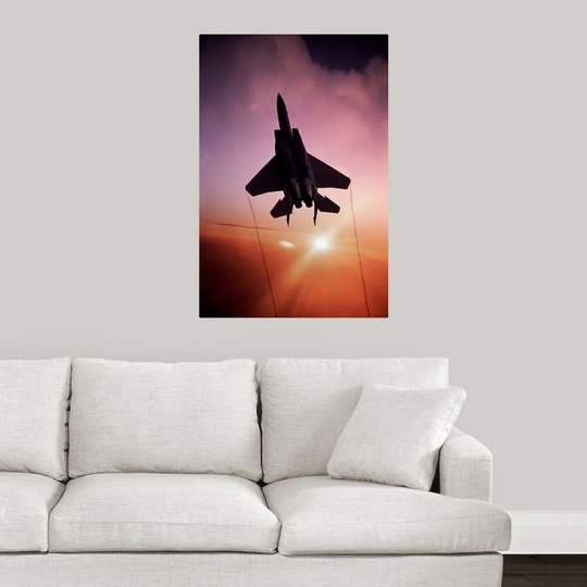 Usaf Wall Decor : Poster print wall art entitled usaf boeing f c eagle