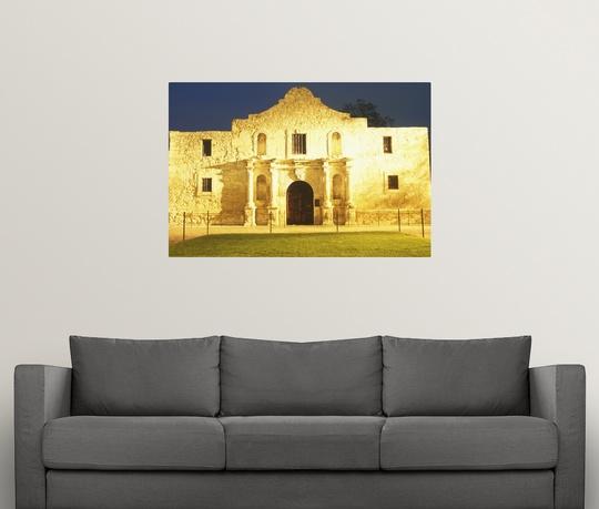 Poster Print Wall Art Entitled The Alamo Historic Mission