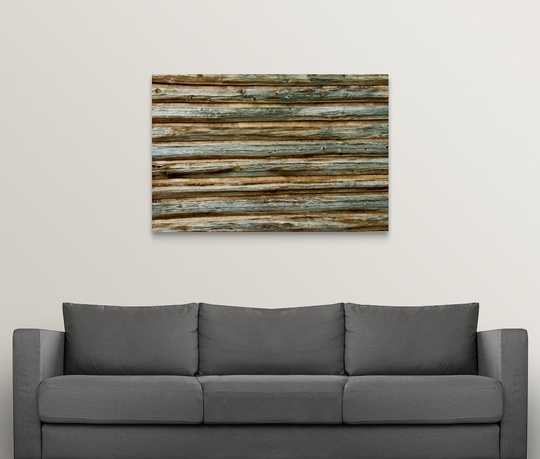 Premium Thick Wrap Canvas Wall Art Entitled Log Cabin