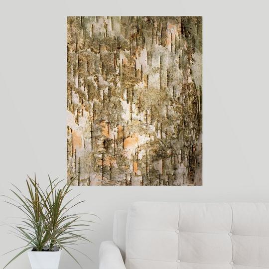 Poster print wall art entitled birch tree bark detail ebay for Tree trunk wall art