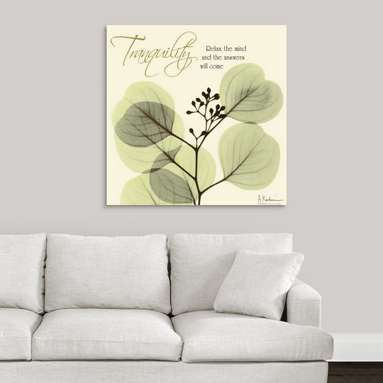 Premium Thick Wrap Canvas Wall Art Entitled Tranquility