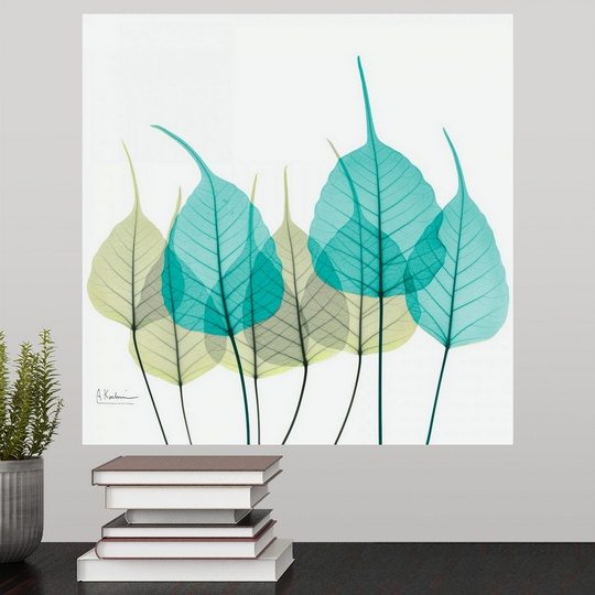 Poster Print Wall Art Entitled Blue And Green Bodhi Tree