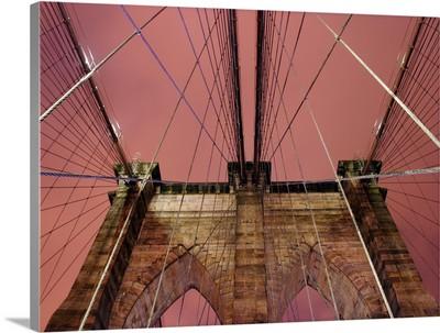 Brooklyn Bridge at dusk, NYC