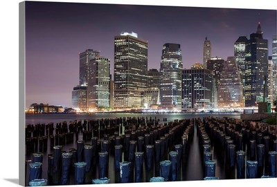 Manhattan from Brooklyn Bridge Park, New York