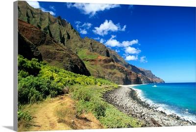 Hawaii, Kauai, Na Pali Coast, Scenic Coastline