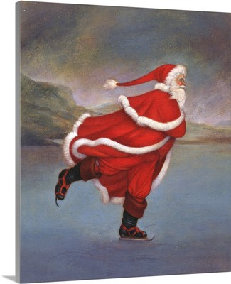 Father Christmas Skating on Duddingston Loch