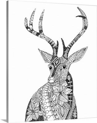 Poinsettia Deer