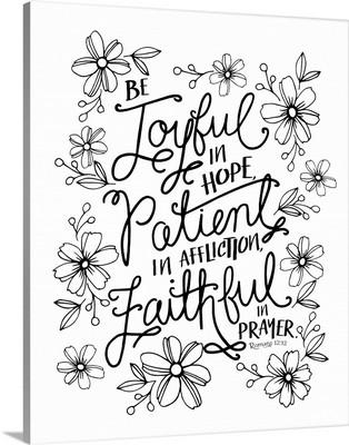 Be Joyful In Hope Handlettered Coloring