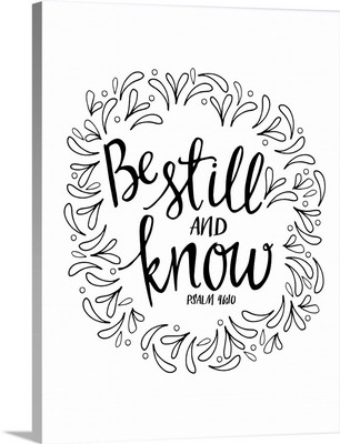 Be Still And Know Handlettered Coloring
