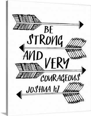 Be Strong And Very Courageous Handlettered Coloring