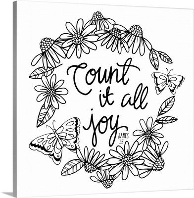 Count It All Joy Handlettered Coloring