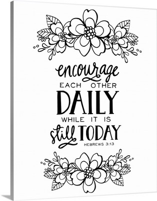 Encourage Each Other Daily Handlettered Coloring