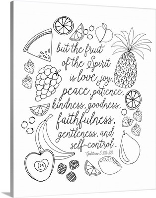 Fruit Of The Spirit Handlettered Coloring
