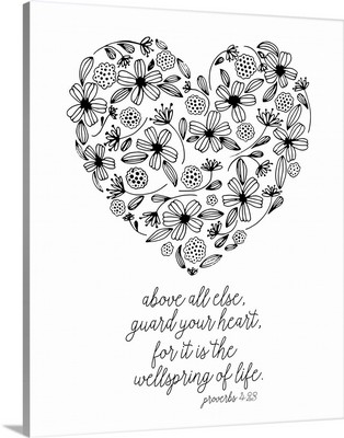 Guard Your Heart Handlettered Coloring