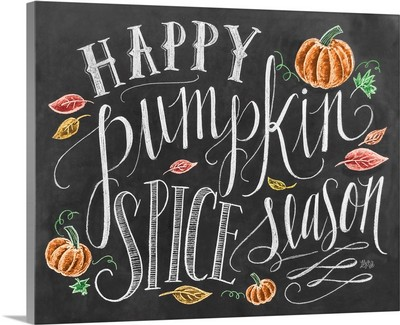 Happy Pumpkin Spice Season Handlettering