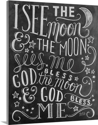 I See The Moon Handlettering