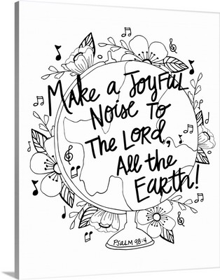 Make A Joyful Noise Handlettered Coloring