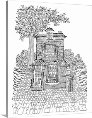 Old Crooked Tea Shop, Windsor Coloring