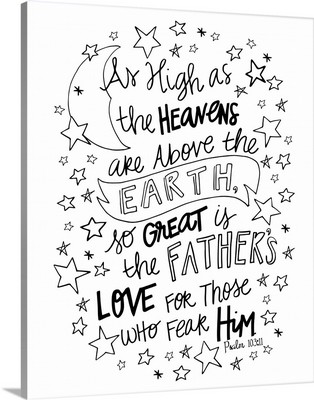 So Great Is The Father's Love Handlettered Coloring