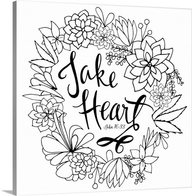 Take Heart Handlettered Coloring
