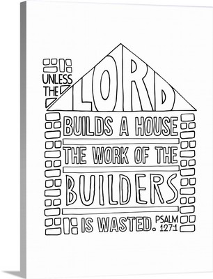 The Lord's House Handlettered Coloring