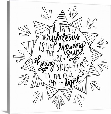 The Path Of The Righteous Handlettered Coloring