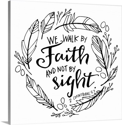We Walk By Faith Handlettered Coloring