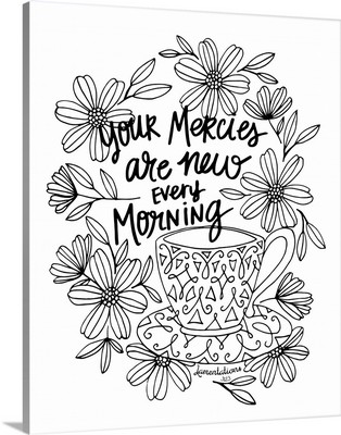 Your Mercies Are New Every Morning Handlettered Coloring