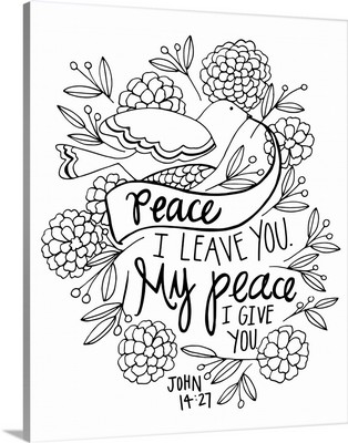 Peace I Leave You Handlettered Coloring