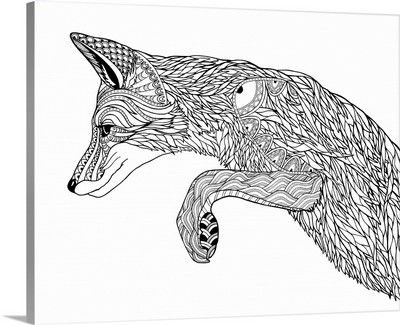 BW Pouncing Fox