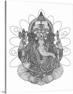 Ganesha - Black and White