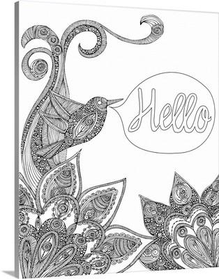 Hello Bird - Black and White